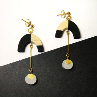 Wooden Earrings No.31