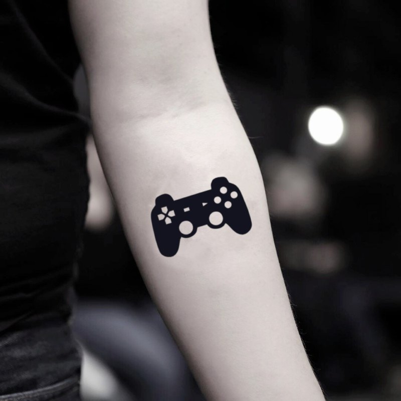 Video Game Control Temporary Fake Tattoo Sticker (Set of 2) - OhMyTat