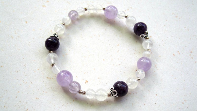Moonstone x Purple Dragon Crystal x Amethyst x 925 Silver [Purple Gift] - Handmade Natural Stone Series