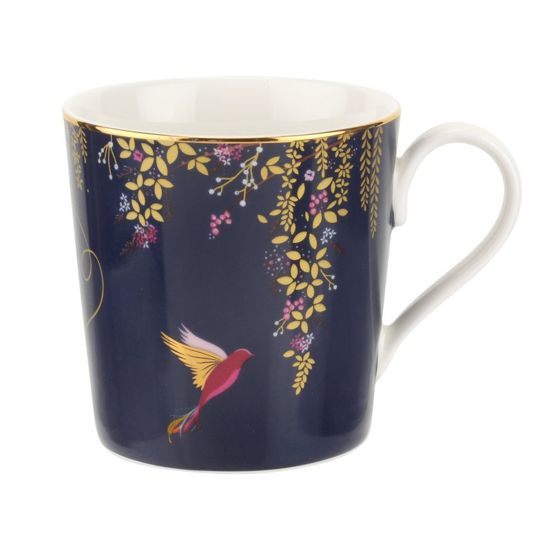 Sara Miller London for Portmeirion Chelsea Collection Mug - Navy