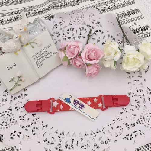 * Princess puff sugar - Hand-headed handkerchief ★ Universal clip clip pacifier clip ★ ★ ★ Name Article Kindergarten necessary Flag ★ E-45