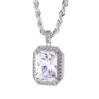 Ladder-cut zircon necklace