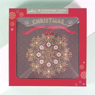 Wreath Christmas Tree Christmas Box Card 3 Total 18 Into [Hallmark-Card Christmas Series]