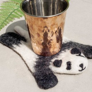 Valentine's Day National Wind Forest Series Wool Felt Coaster Animal Animal Coaster - Panda Bear Panda Coaster