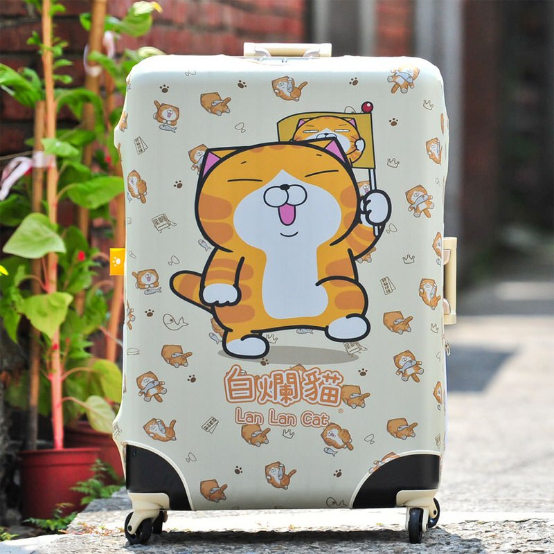 Genuine licensed goods Taiwan made white rotten cat luggage set - rotten leader (excluding luggage 喔)