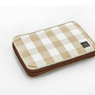 Lifeapp Sleeping Pad Replacement Cloth --- XS_W45xD30xH5cm (Brown White) does not contain sleeping mats