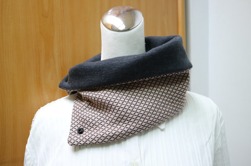 Buckle warm scarf short scarf neck cover double-sided two-color men and women are applicable*SK*