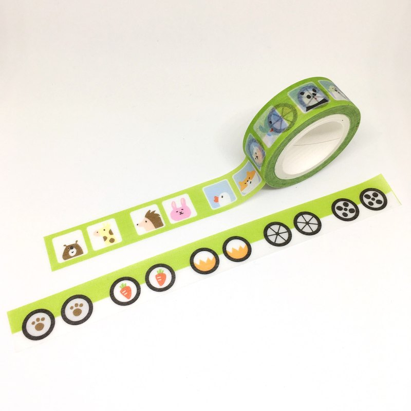 Animal car paper tape
