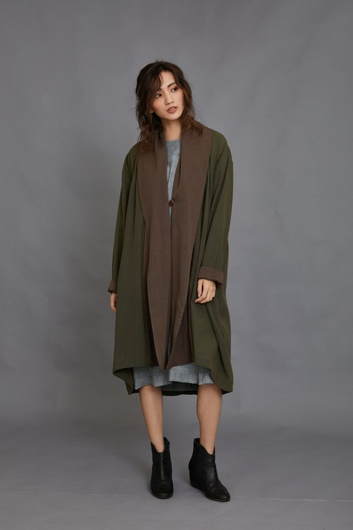 Flying hand-woven coat _ forest _ fair trade