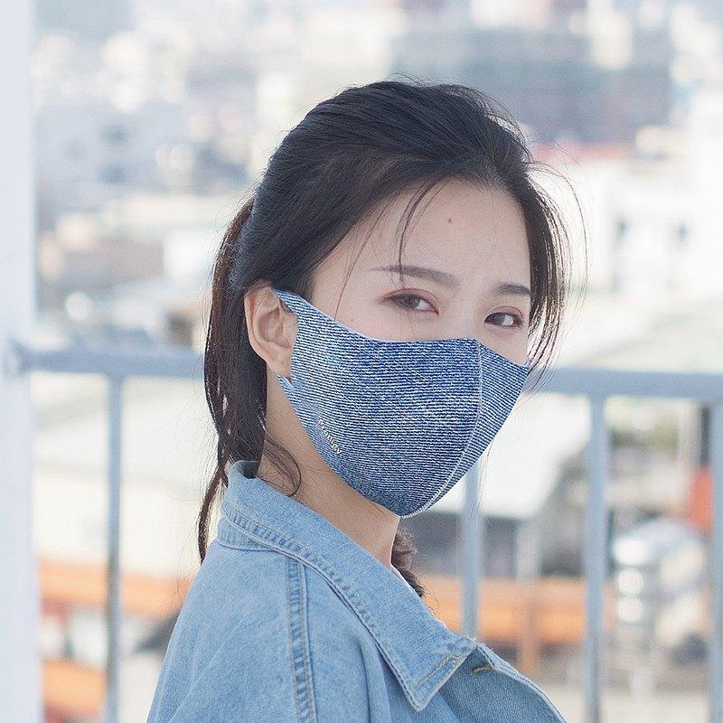 2色-牛仔丹寧─3D立體透氣抗菌口罩