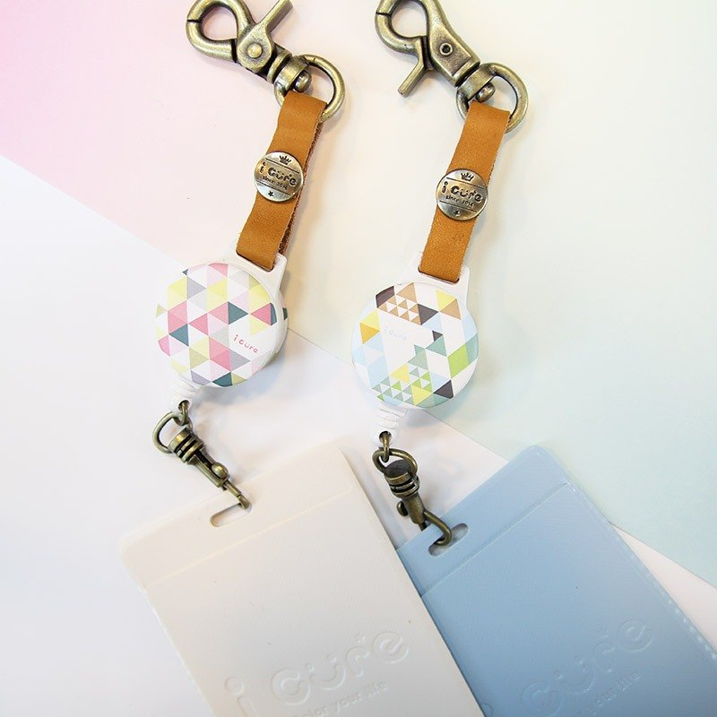 i good hook telescopic documents clip votes geometric series - hearty mountain & Rose Garden (two) votes Tanabata Valentine's Day card holder leather travel card telescopic pull ring