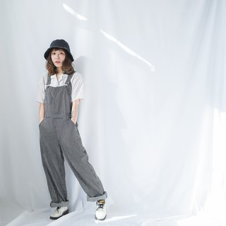 Ancient II Japanese II Washing Straight Striped Denim Vintage Worker's Pants II