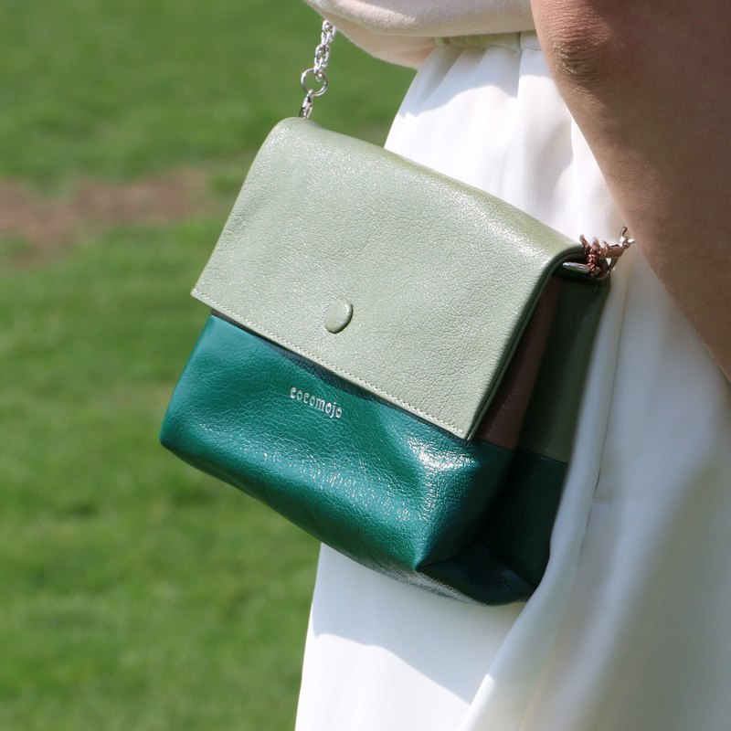 Green Sheepskin Soft Pouch