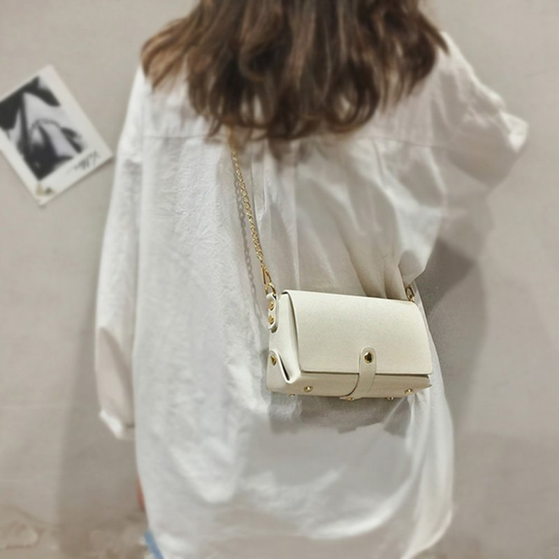 Can be engraved Messenger bag iphone mobile phone bag cross-body bag shoulder bag birthday guest gift white