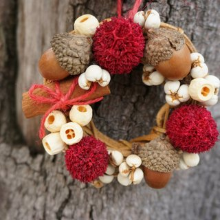 Mini fruit Christmas wreath, Christmas wreath, Dry flower, Flower, Gift