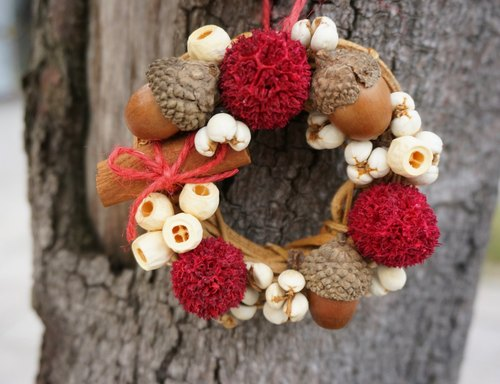 [MK & SF fancy fantasy]*Mini Fruit Christmas wreath*Christmas wreaths, dried flowers, flowers, gifts