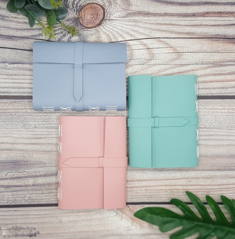 Pastel Journal White Stitched with Belt