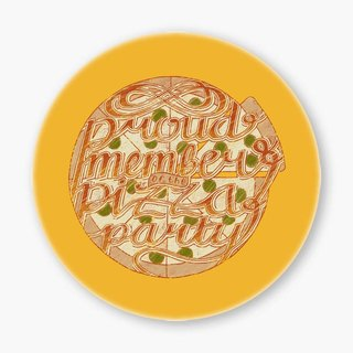 Snupped Ceramic Coaster - Pizza Club