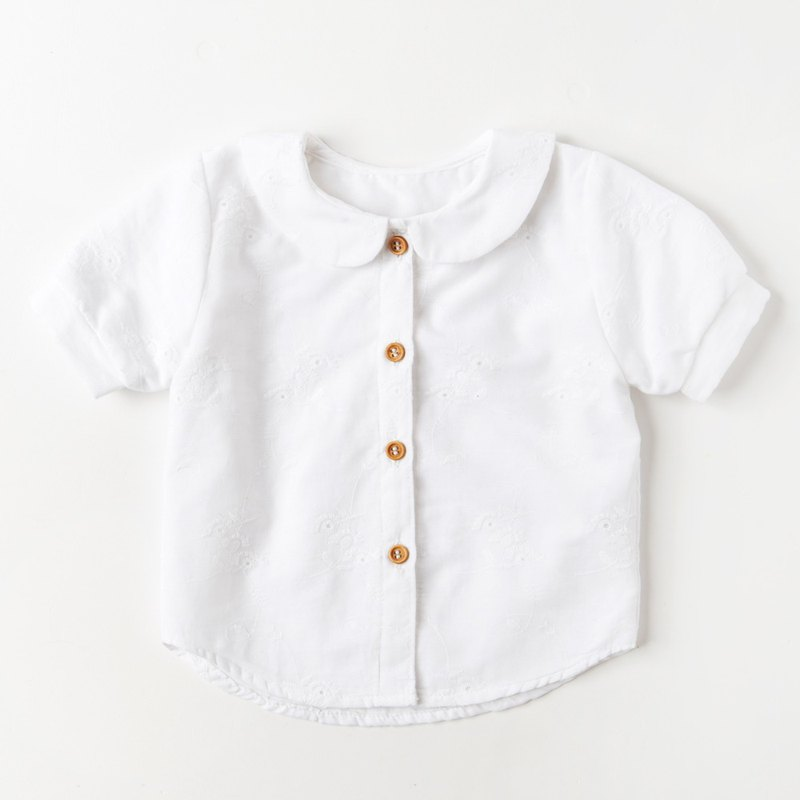 UK Handmade - WHAT MOTHER MADE - White Embroidered Shirt