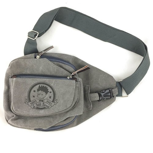 The Little Prince Classic authorization - [Messenger Bag - gray iron] (large)