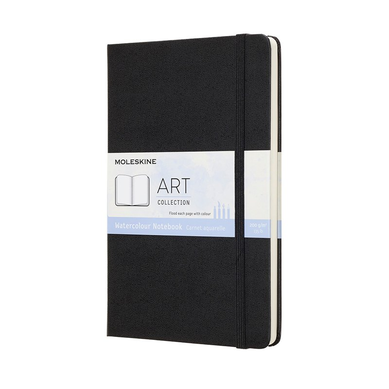 MOLESKINE Watercolor Notebook Type L-Black-Bronzing Service