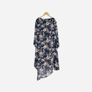 Dislocation vintage / irregular cut chiffon print dress no.850 vintage