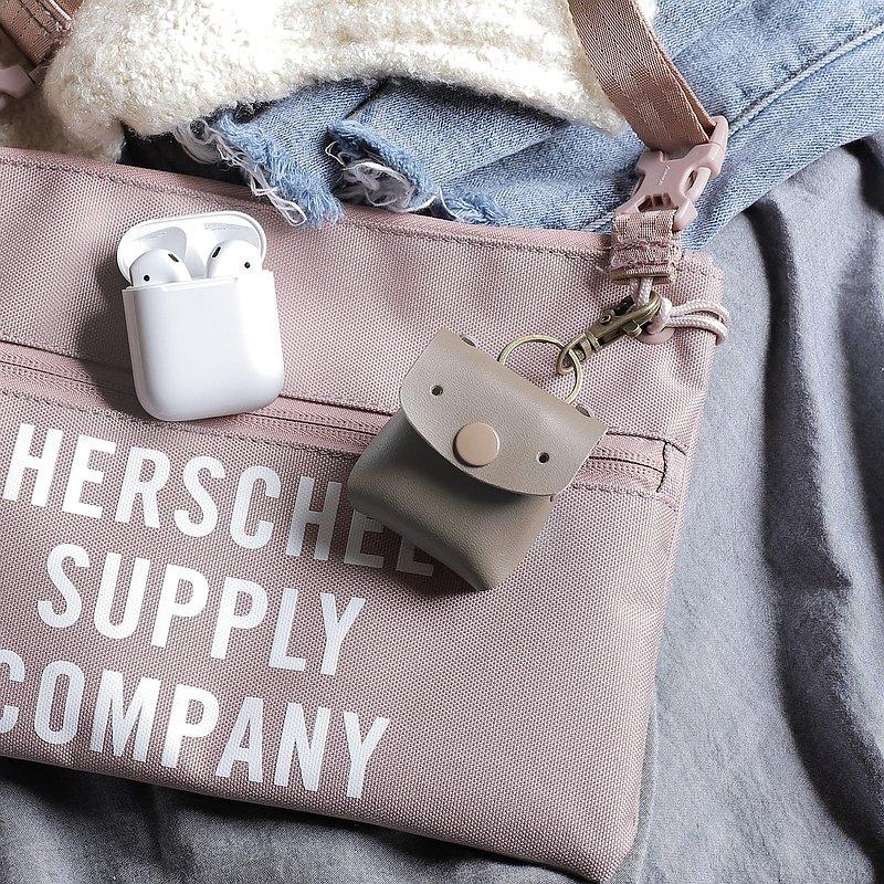 咖啡色 常見的Goody 真皮革手工 AirPods & Pro 保護套