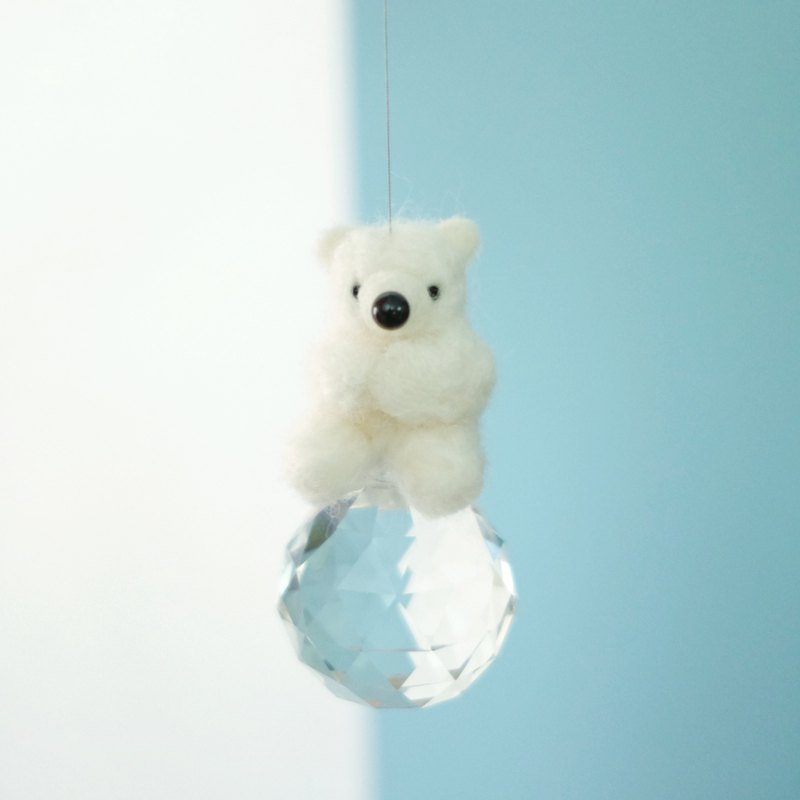 Shirokuma sun catcher on ice