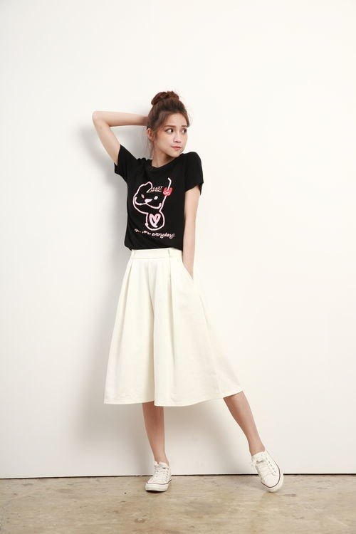 LAZYMARU-LM000836-You are my every day models short-sleeved T-shirt (black) Actress couple Taiwan culture