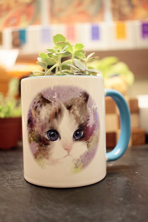 David Videos Cat 2016 <Love spent a> limited edition mug <Customized>
