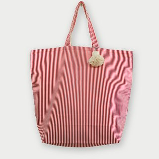 Fabric Bag | Large Market Bag - Polkadot Bag (Pink Color)