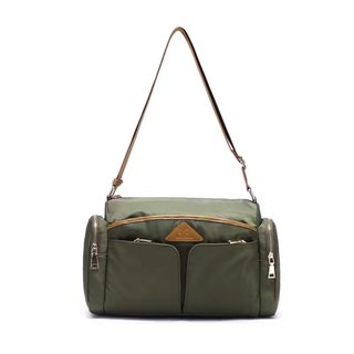 Ladies shoulder bag large capacity waterproof travel oblique backpack mother bag - green