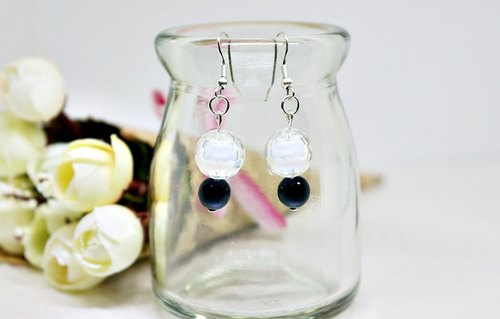 Alloy <Golfball>_Hook Earrings => Limited X1