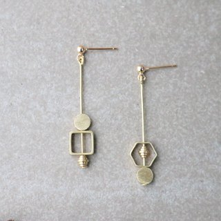 Brass Earrings 1094 Cute