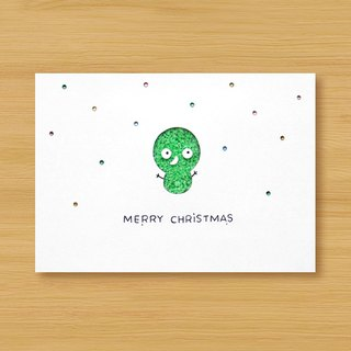 Handmade luminous card _ Little Snowman B ... Christmas card, Christmas