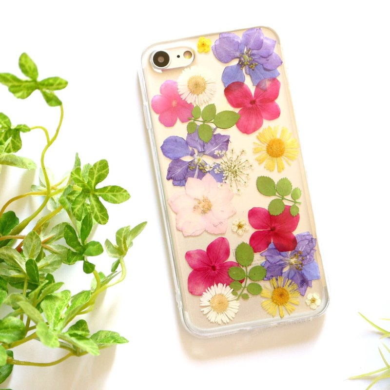 Vibrant Pressed flower phone case - for iphone 5/5s/SE/6/6s/6 plus/6s plus