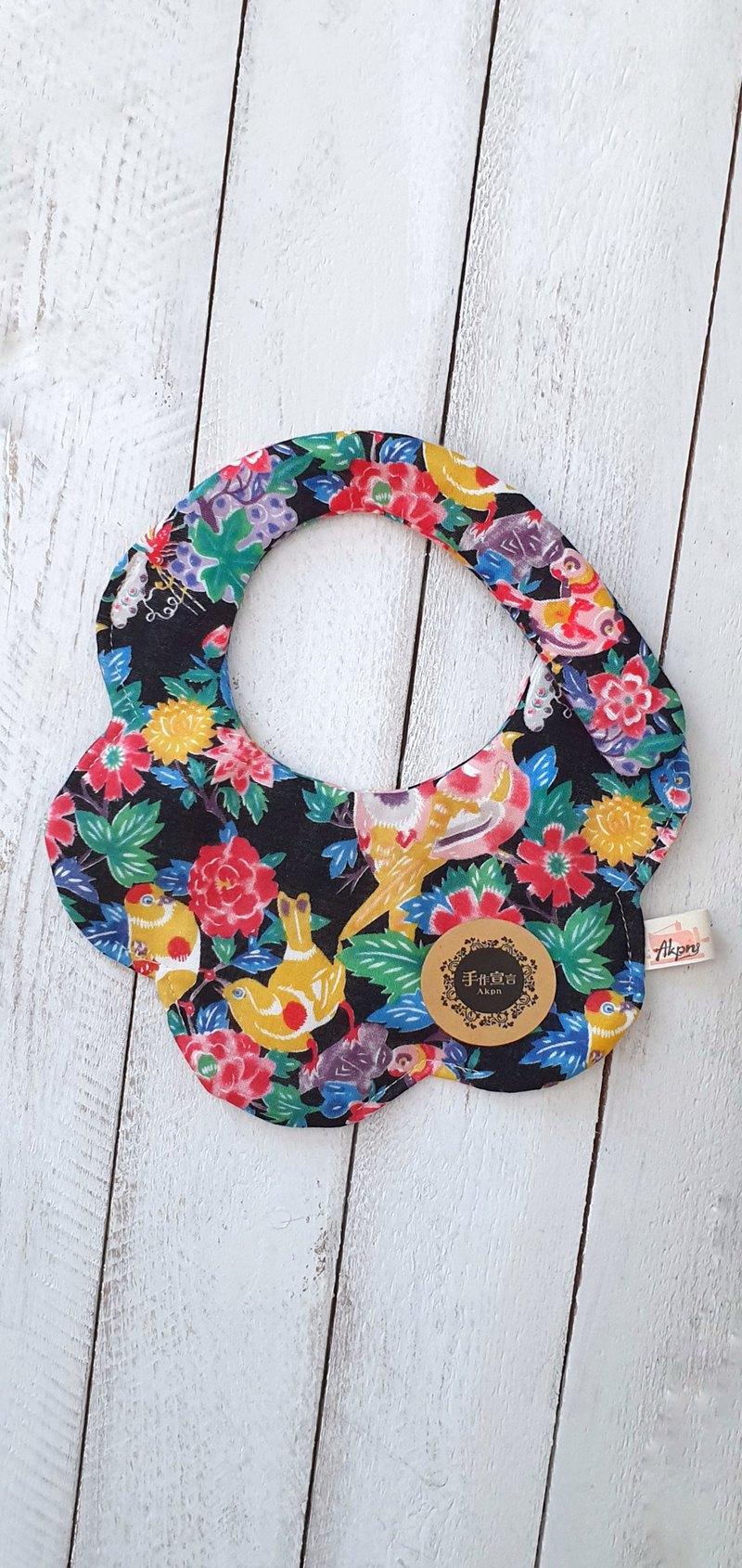 喜鵲E-八層紗100%cotton隨性圓弧造型圍兜.口水巾-共五色