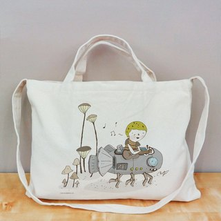 Happy life details Cultural & Creative wind horizontal canvas bag