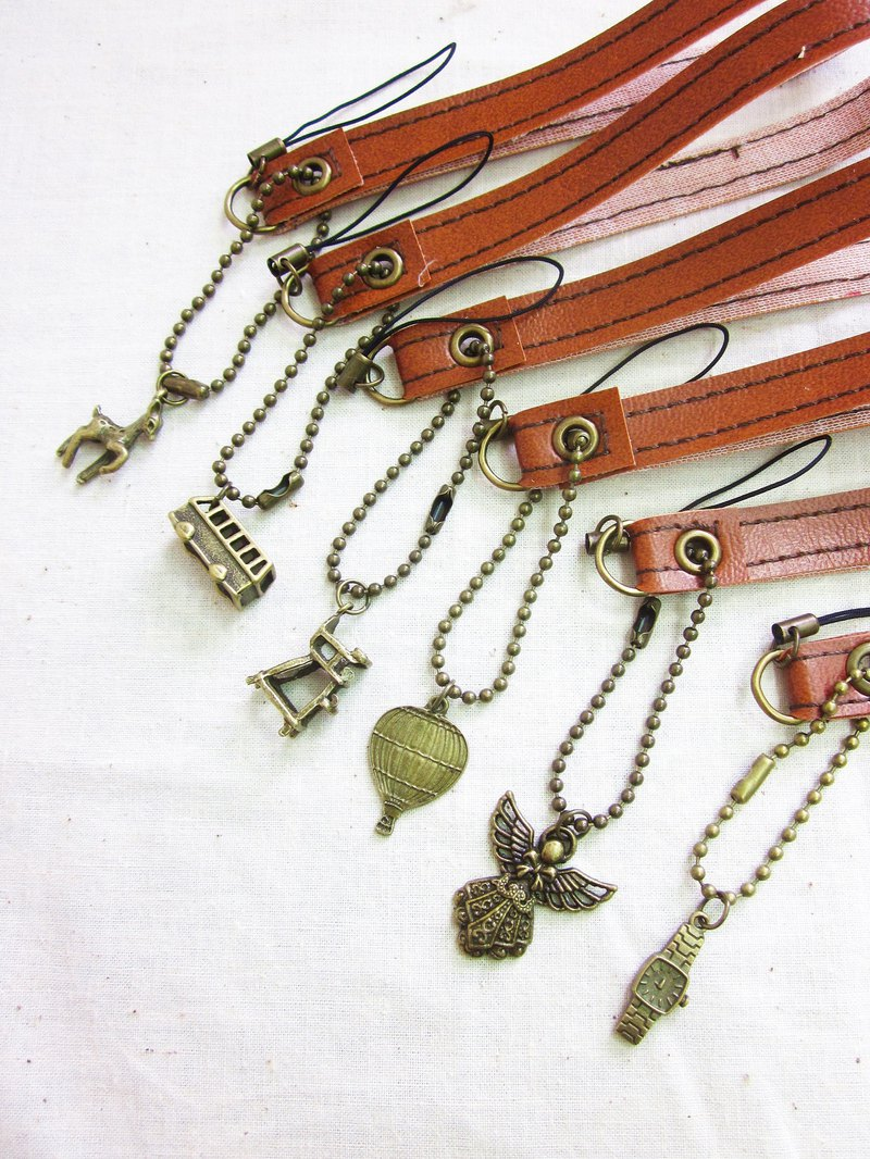 My Daydream Workshop vintage garden leather phone chain / phone pendant / cell phone rope / phone rope / camera rope variety
