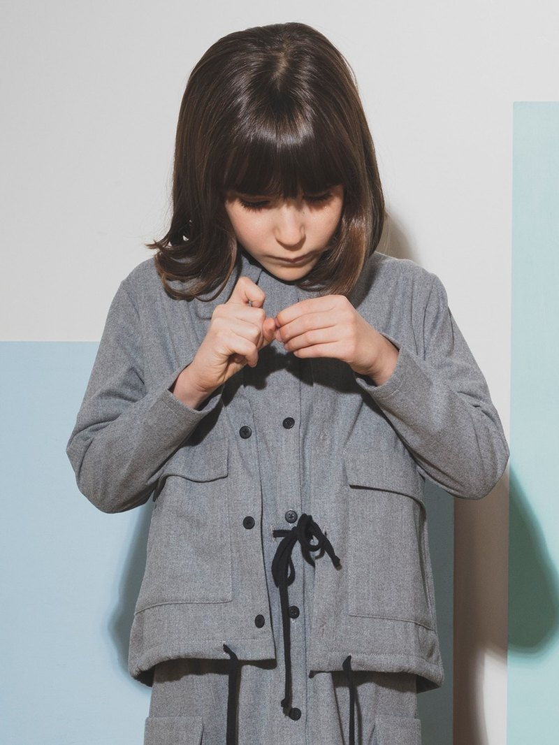Overshirt Light Gray 8-9Y