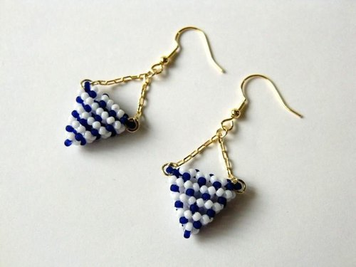 Stripe Triangle · Earrings