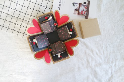 Sweet Home gift box card - the wind Kyoto x two-sided flip Raha version - handmade cards / Valentine's Day cards / explosion cards / explosion box