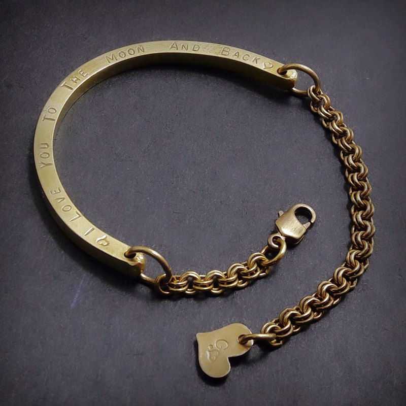 M4 - Brass Bracelet - Royal Craftsman's Exclusive Knitting - Custom Knocking - Manual DIY