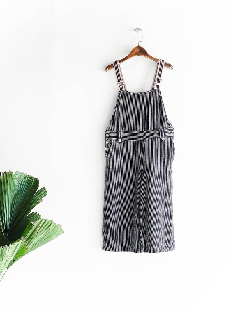 River water - Gifu pure black stripes youth dream even tannins harness pants pound neutral Japan overalls oversize vintage
