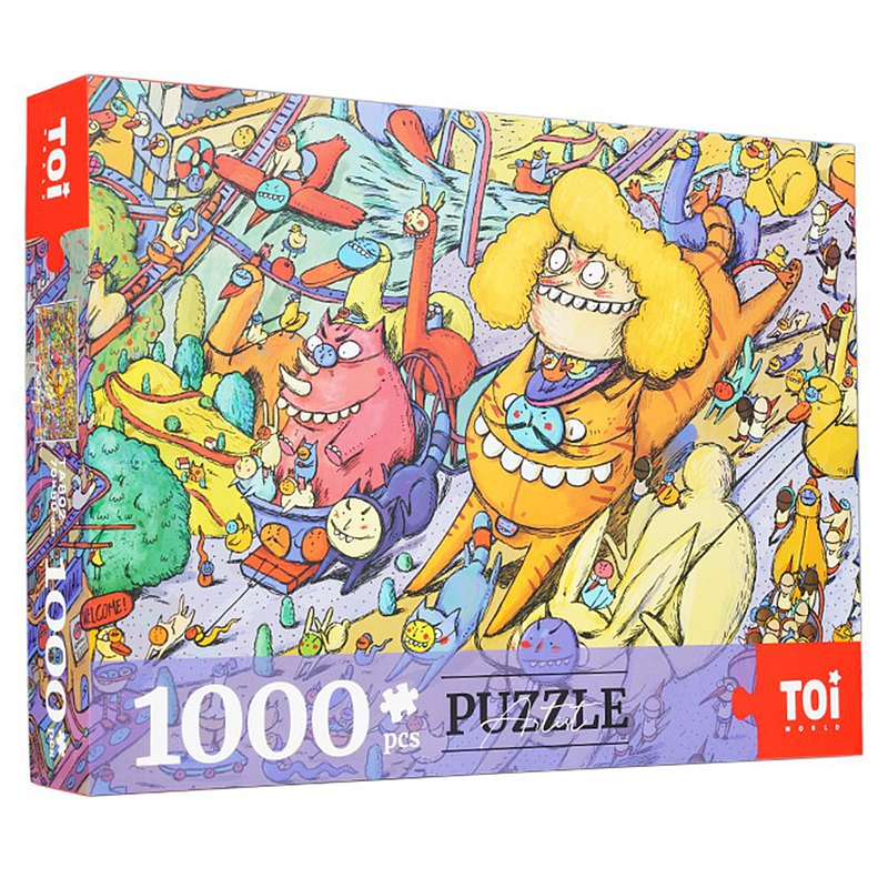 插畫家獨家授權藝術拼圖 荷蘭進口藍卡紙 超大版1000片 面具狂歡