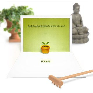Relax Card | Relax Pop Up Card | Meditation Card | Zen Card | Pop Up Card