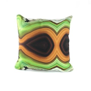 HARD SWIRLS GREEN PILLOW COVER