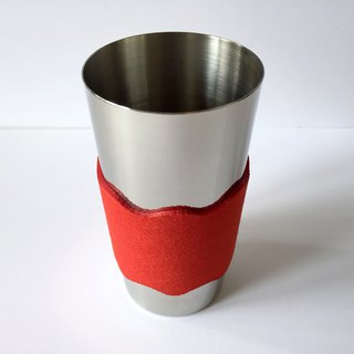 Tumbler with sleeve 400 ml red