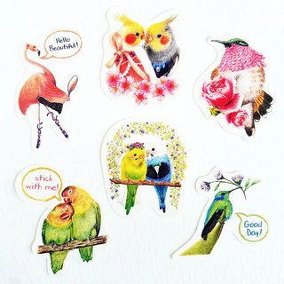 Bird sticker package