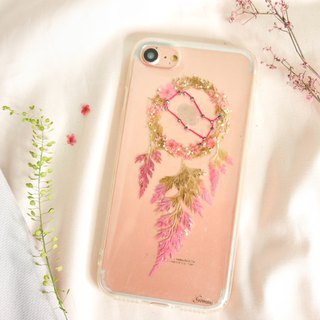 Gemini Pressed Flower Dreamcatcher Phone Case | 12 Zodiac